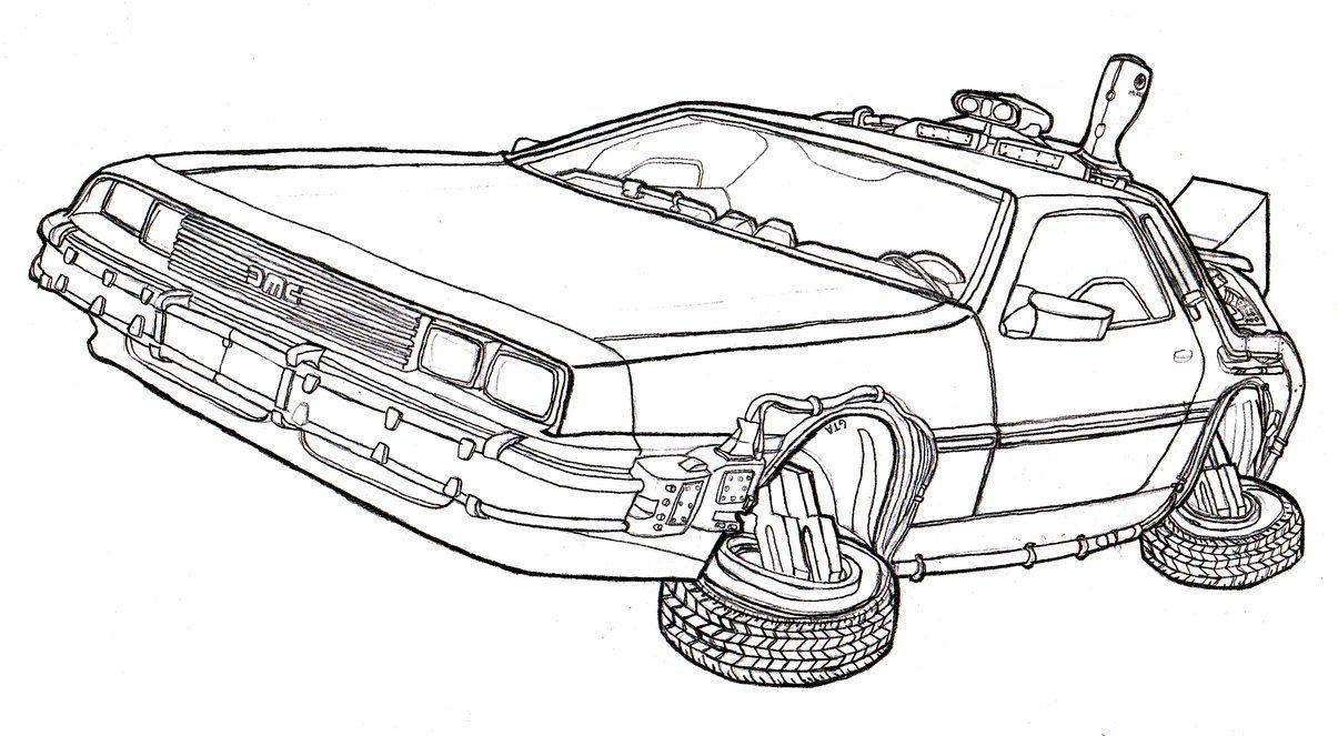 DeLorean DMC-12 Time Machine - Back to the Future by Dandelo1 on ...