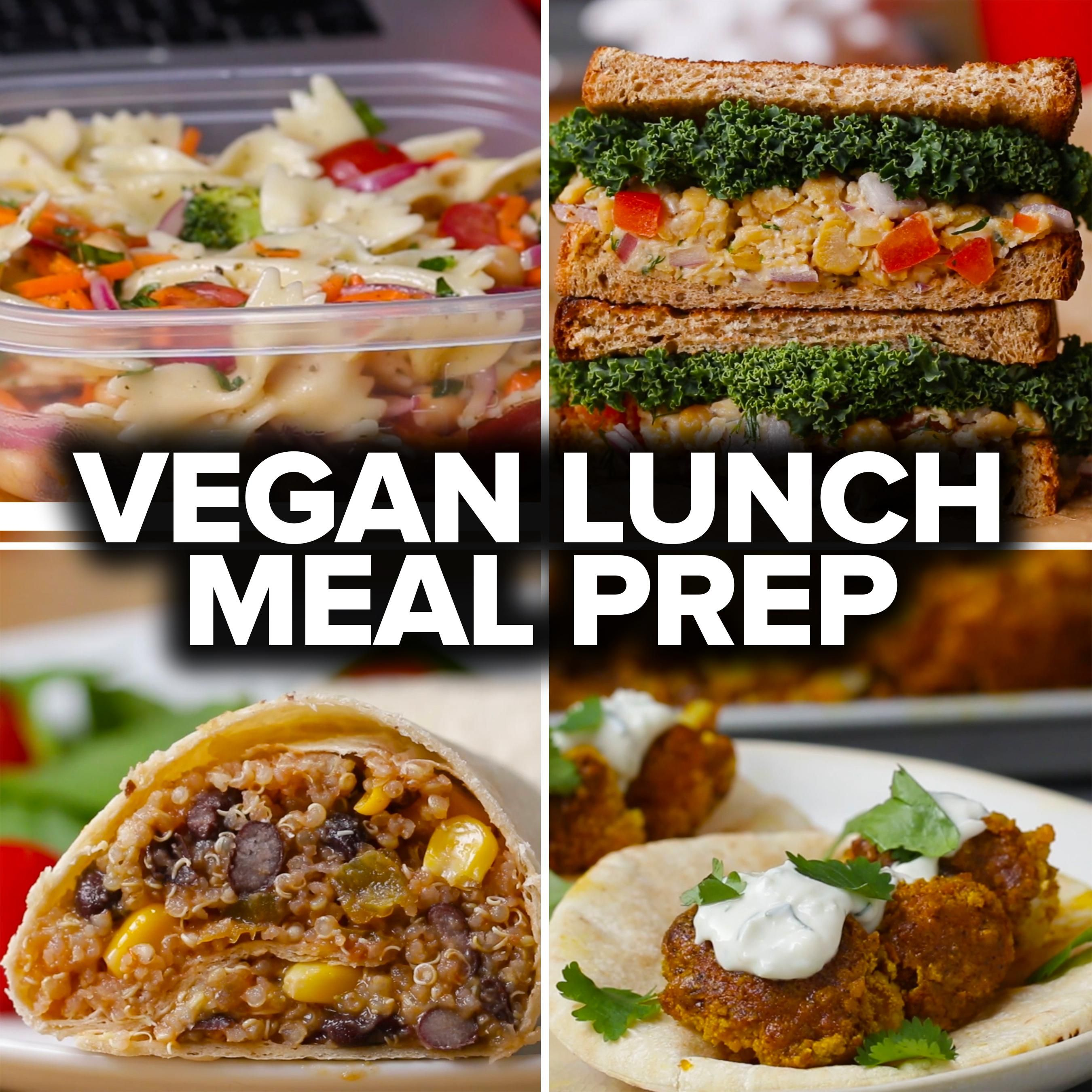 6 vegan lunch meal preps by tasty | lunch ideas | pinterest | vegan