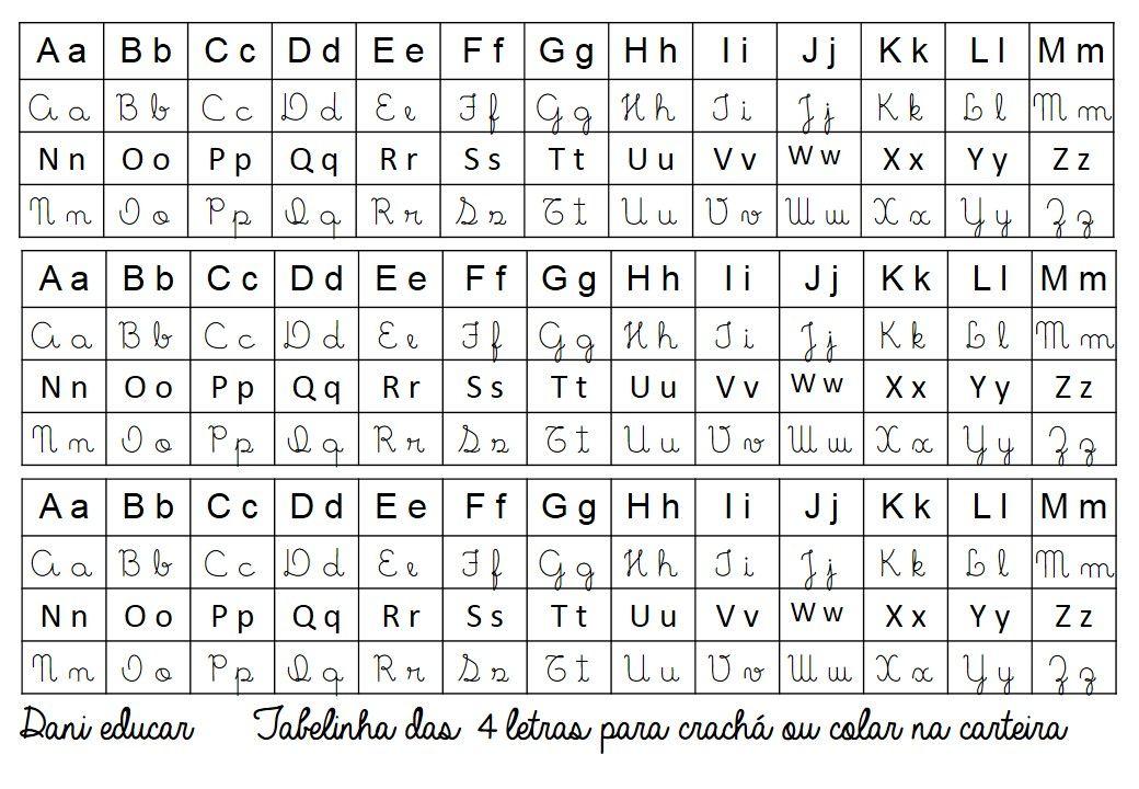 Ficha Do Alfabeto Maiusculo E Minusculo Com Imagens Alfabeto