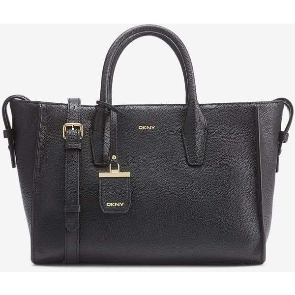 pebbled tote bag - Black DKNY