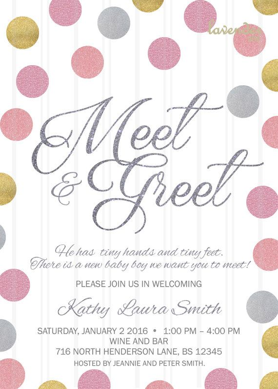 Meet and greet invitation blue pink silver meet the baby baby meet and greet invitation blue pink silver meet the baby m4hsunfo