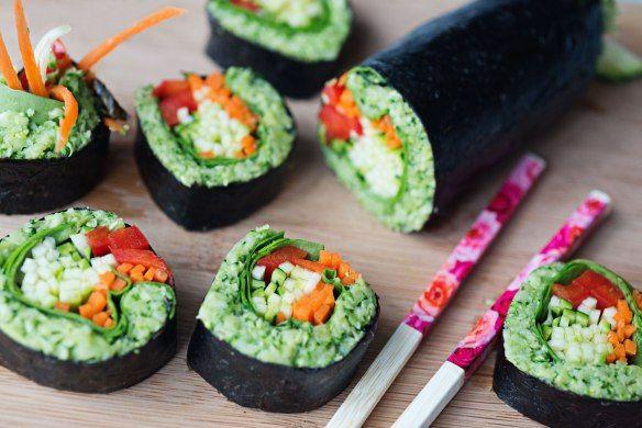 Broccoli rice sushi