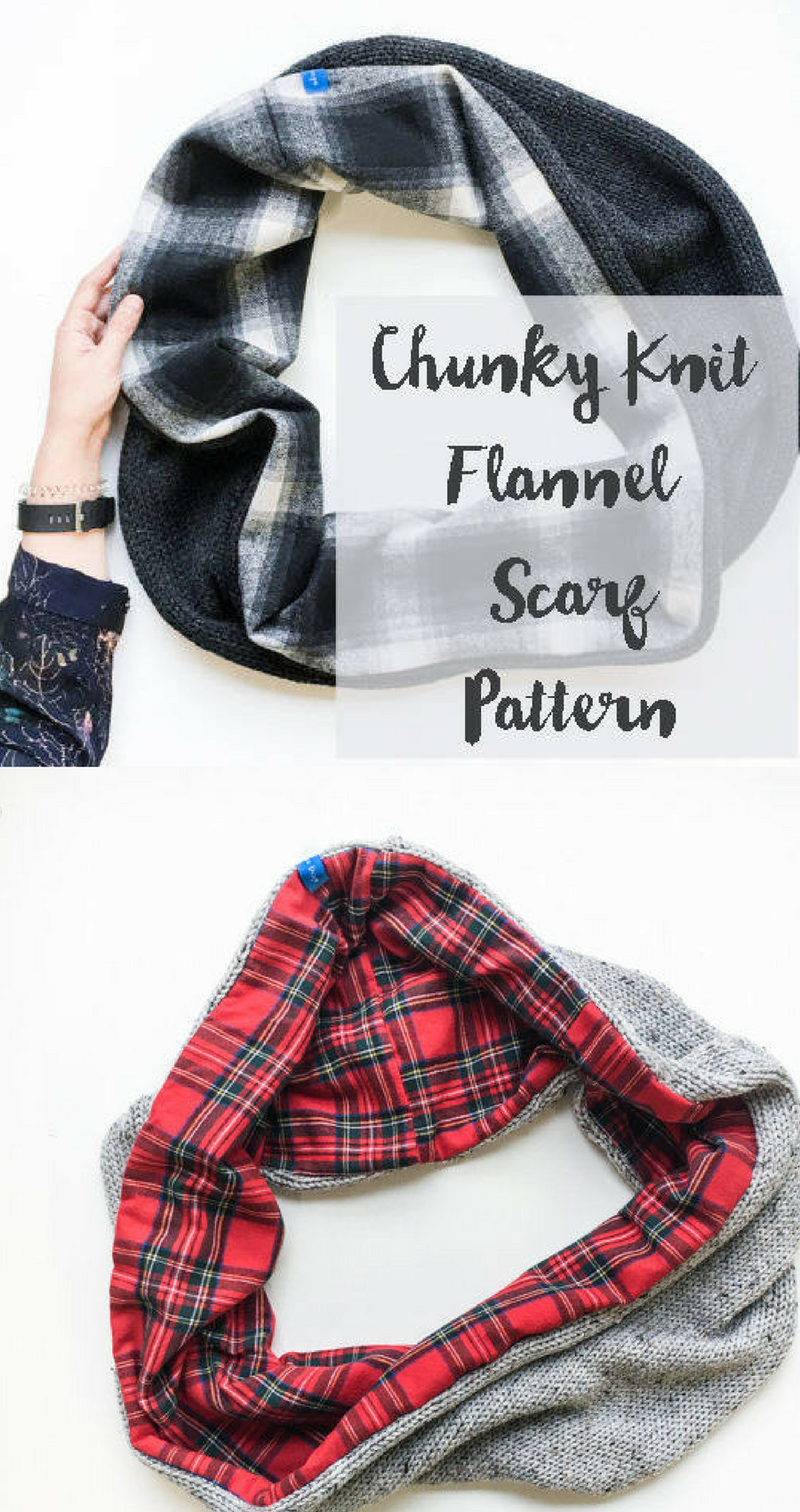 omg i want this chunky knit flannel scarf pattern #knittingpatterns ...