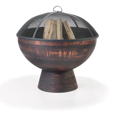 26-In Wood Burning Fire Bowl with Spark Screen - FB-2