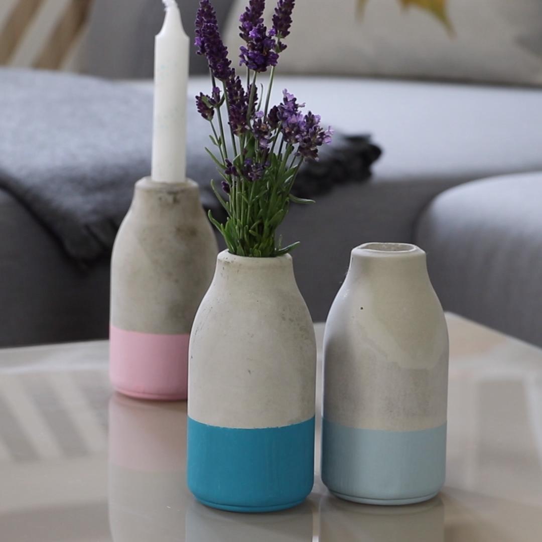 Photo of Concrete vases DIY