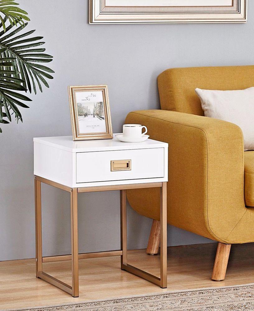Modern Nightstand End Table Bedside Bedroom Furniture Drawer