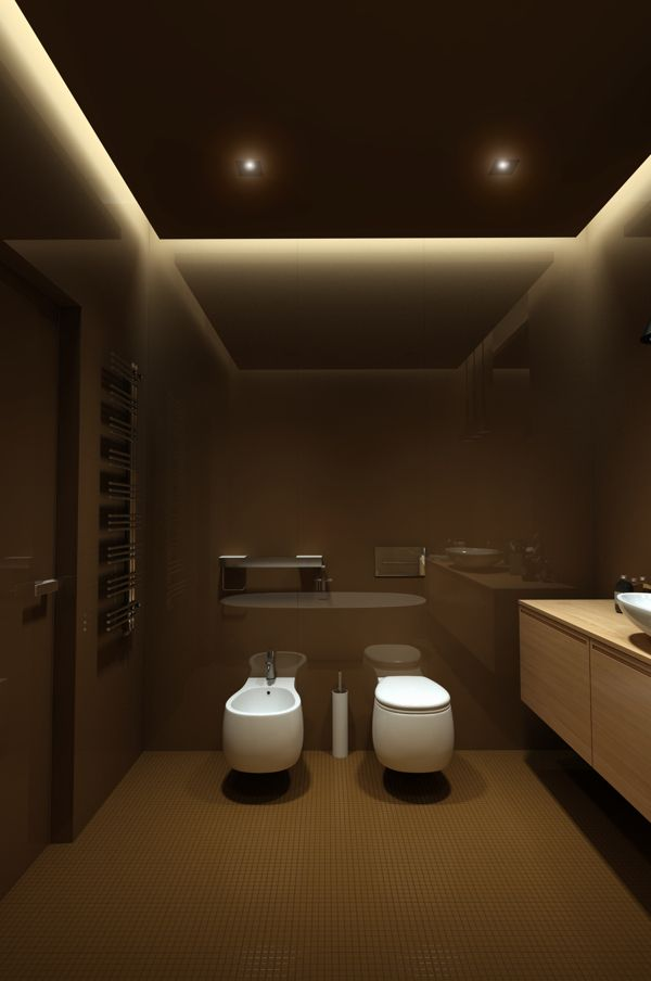 This bathroom design is so relaxing under lighting always gives any room a vibe of luxury