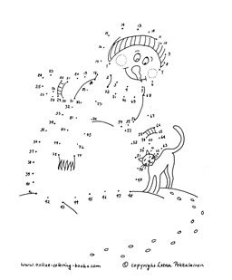 Dot To Dot Printables With A Winter Theme Malen Nach Zahlen