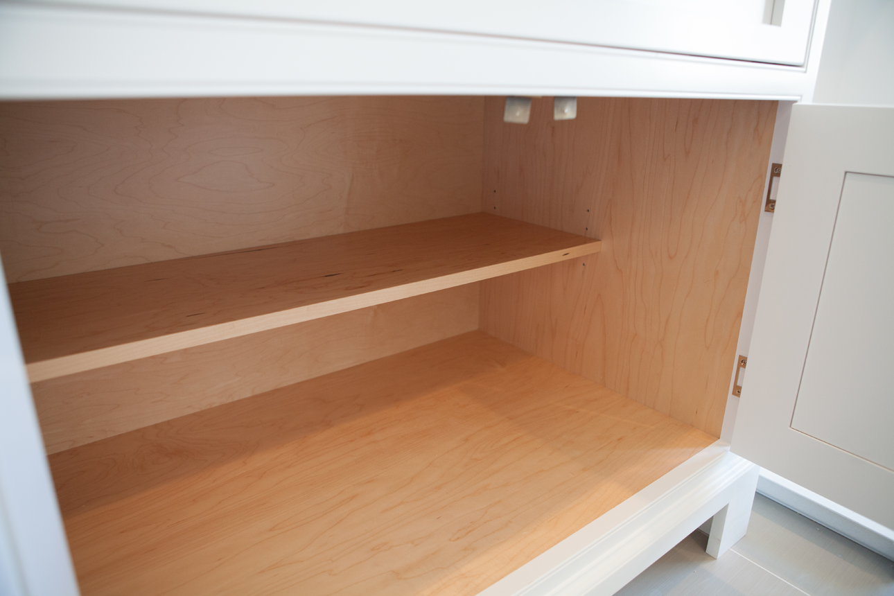 Half Shelf In Base Cabinet So You Can Fit Taller Items In Front Kitchen Inspirations Base Cabinets Shelves