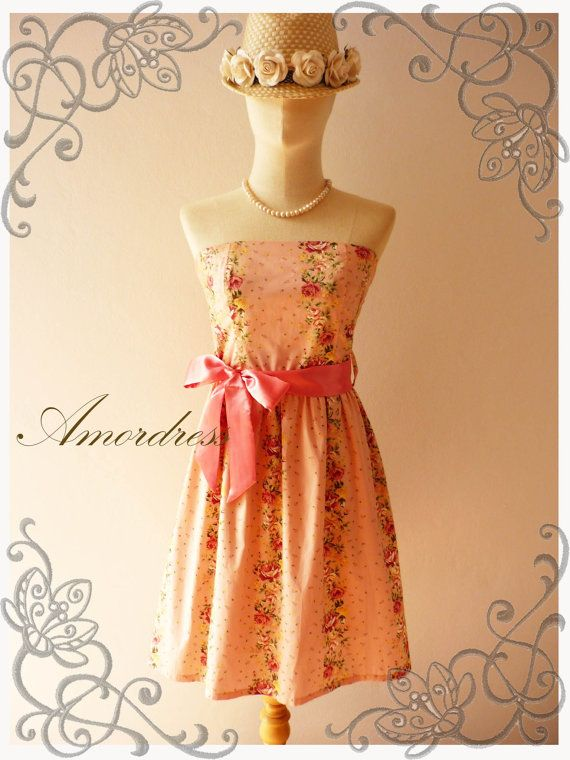 Floral Angel Old Rose Pink Gorgeous Pink Floral Party by Amordress