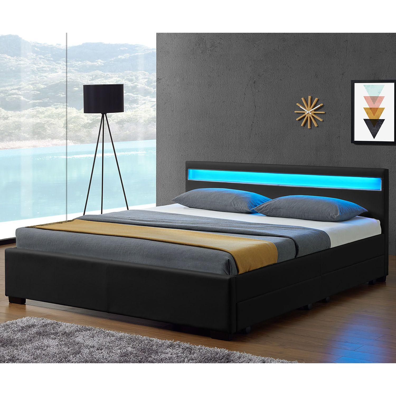 77 Fabelhaft Bett 140x200 Mit Led Bettgestell Bett Modern Bett Mit Bettkasten