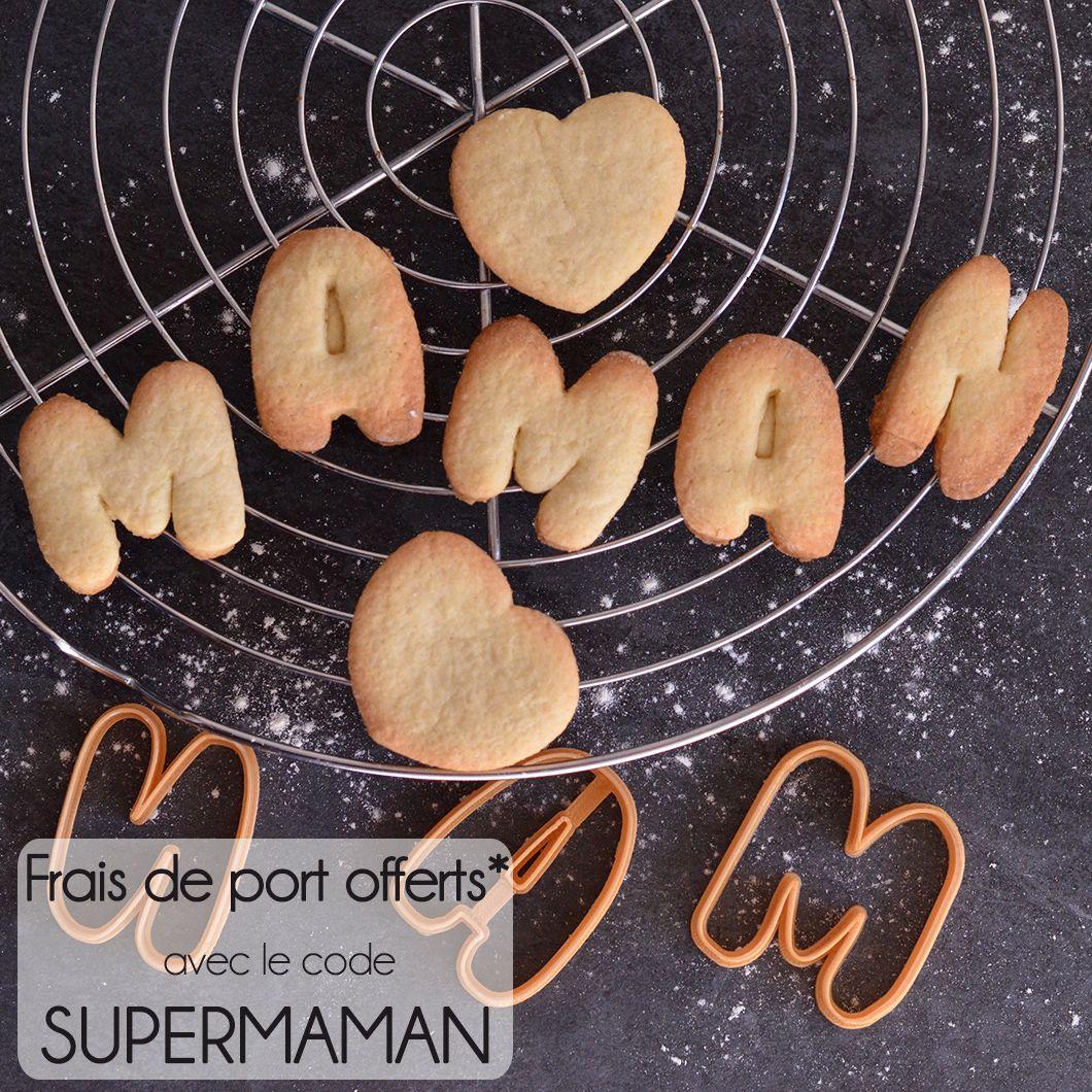 Code Promo Idée Cadeau Emporte pièces Fête des mères   Cookie Cutter Mother's Day   Code
