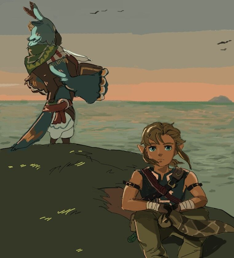 I appreciate Kass in this game. Link looks so lonely