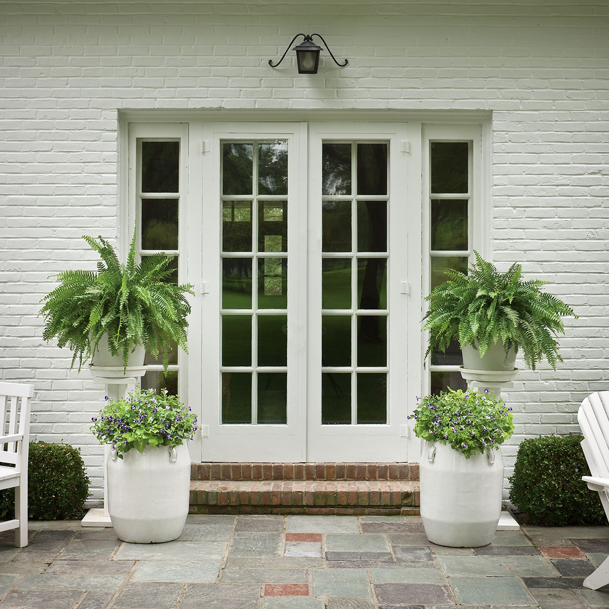 Container Plant Ideas Front Door: Entrances That Are In Full Shade Can Be A Challenge, But