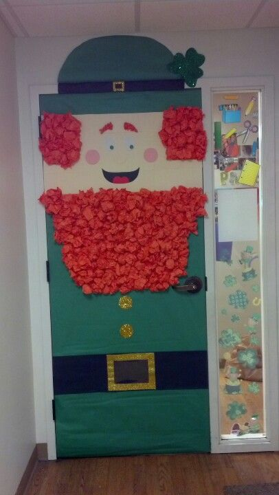 St. Patrick's Day Shamrock Welcome Irish Wall Door Wreath ...  |Ireland Door Decorations
