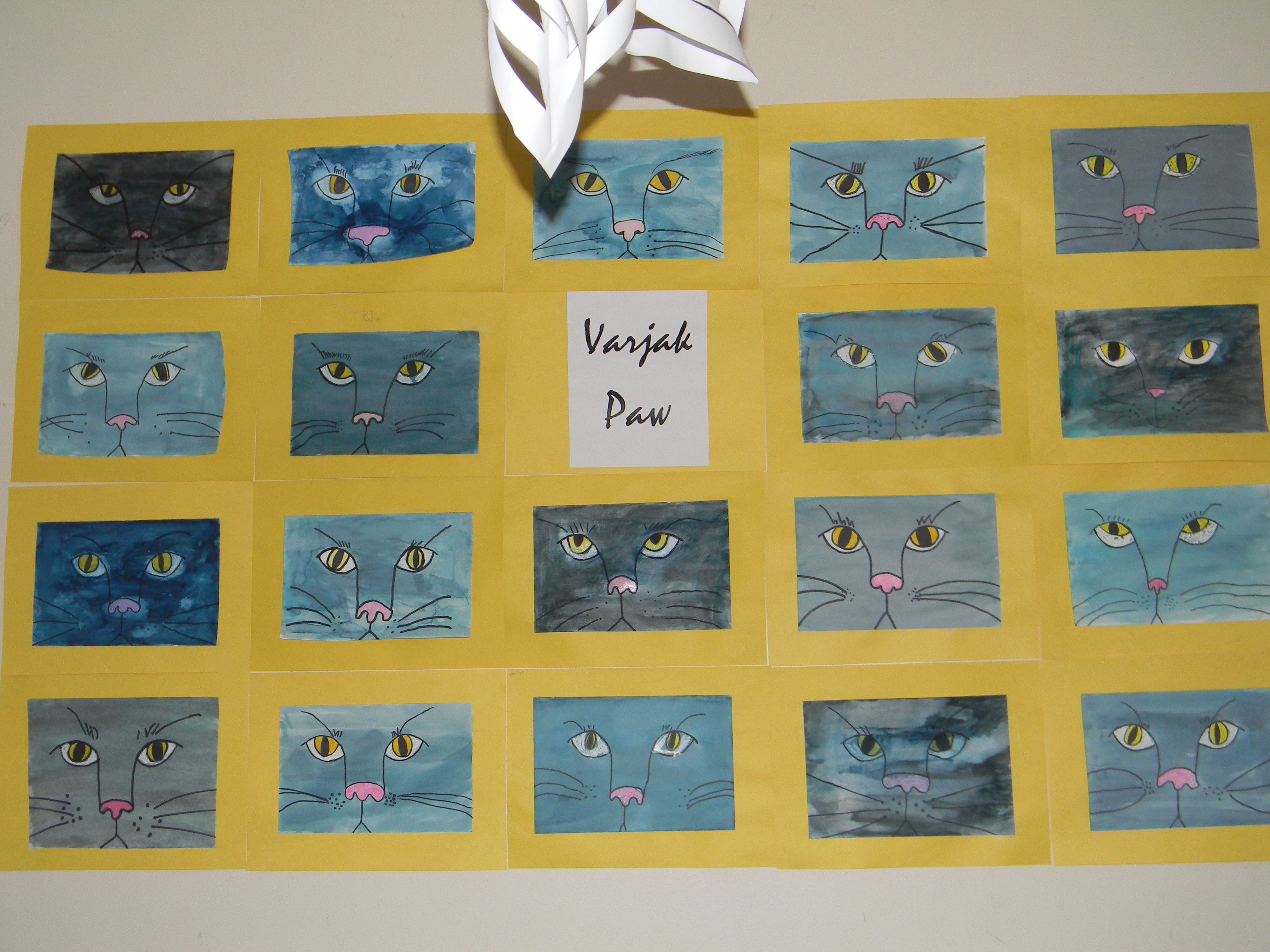 Varjak Paw Inspired Watercolor Art Project Check Out Artprojectsforkids For A Complete Lesson