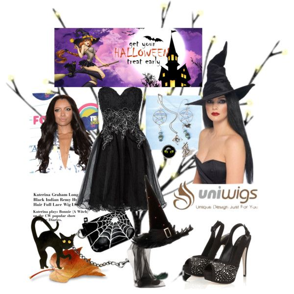 Be a beautiful witch with UniWigs Halloween wigs!