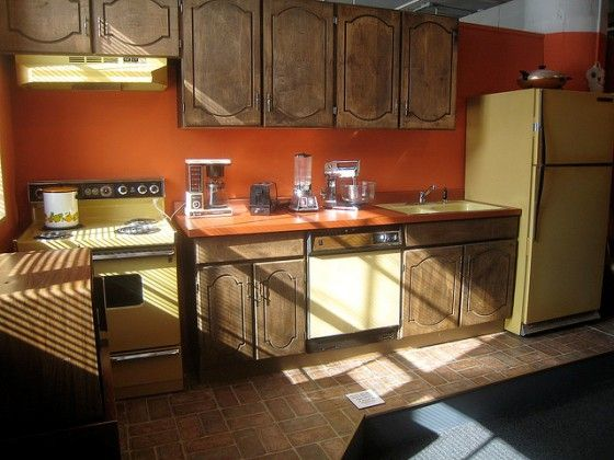 Orange Kitchen Walls 70s kitchen colors, cabinets and appliances | my children's