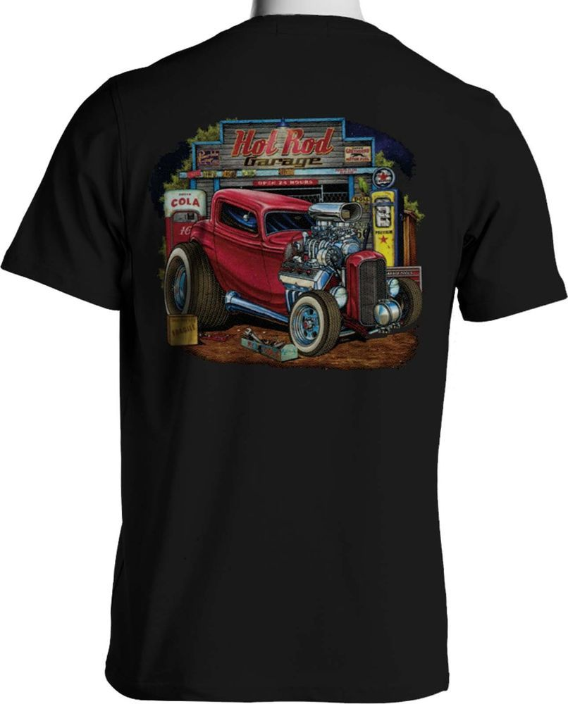 HOT ROD CLASSIC CAR Moonshine Rockabilly Vintage Rétro Whiskey T Shirt S-5XL