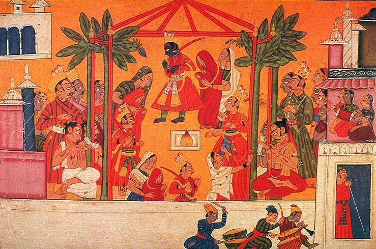 Ramayana - Marriage of Rama Bharata Lakshmana and Shatrughna - Ramayana - Wikipedia in 2020 | Digital art fantasy, Indian art, Indian artist
