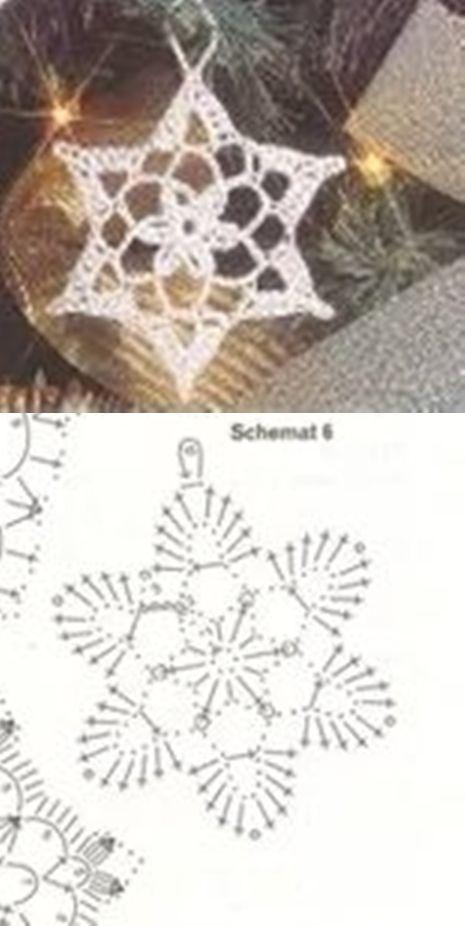 Crochet snowflake - maybe nice as an earring | - CROCHET ...