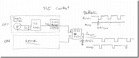555 contest entry–touch sensor