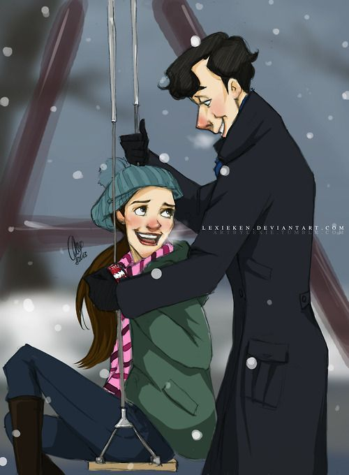 Sherlolly, by artbylexie on tumblr. this fanfic is the cutest thing ever and it makes you wonder: http://archiveofourown.org/works/559451/chapters/998373