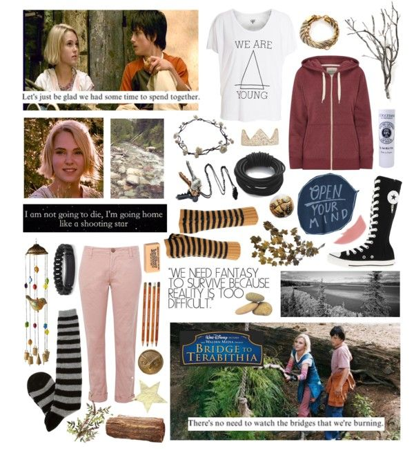 """""""I wrote the book to try to make sense of out of a tragedy that seemed so senseless"""" - Katherine Paterson, author of the book """"Bridge to Terabithia"""" by emericcson123 ❤ liked on Polyvore"""