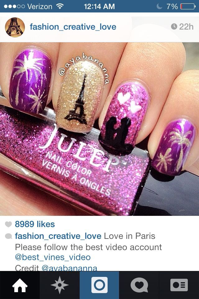 Pretty nails - Pretty Nails Manicure Pinterest Paris Nails, Creative Nails