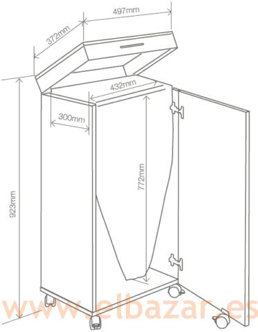 Tabla armario para plancha de ropa plegable comprar for Mueble planchador ikea