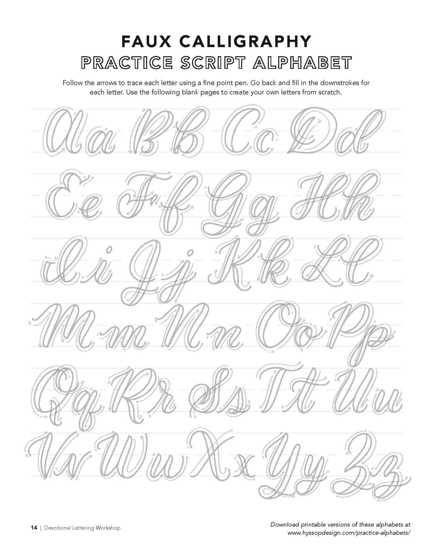 Resultado De Imagem Para Faux Lettering Alphabet