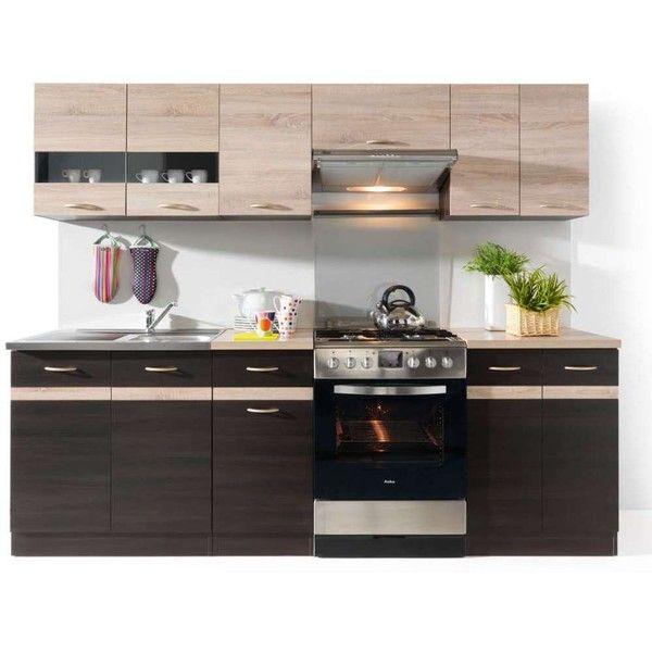 Kitchen кухня Junona Line 240 Brw Black Red White польша