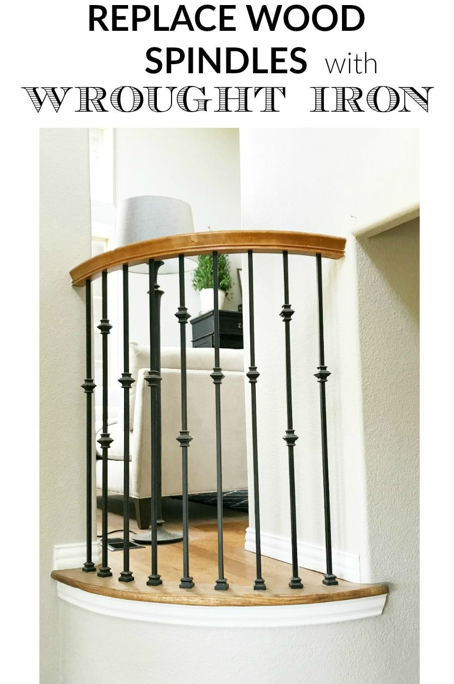 Best How To Replace Wood Spindles With Wrought Iron Spindles 400 x 300