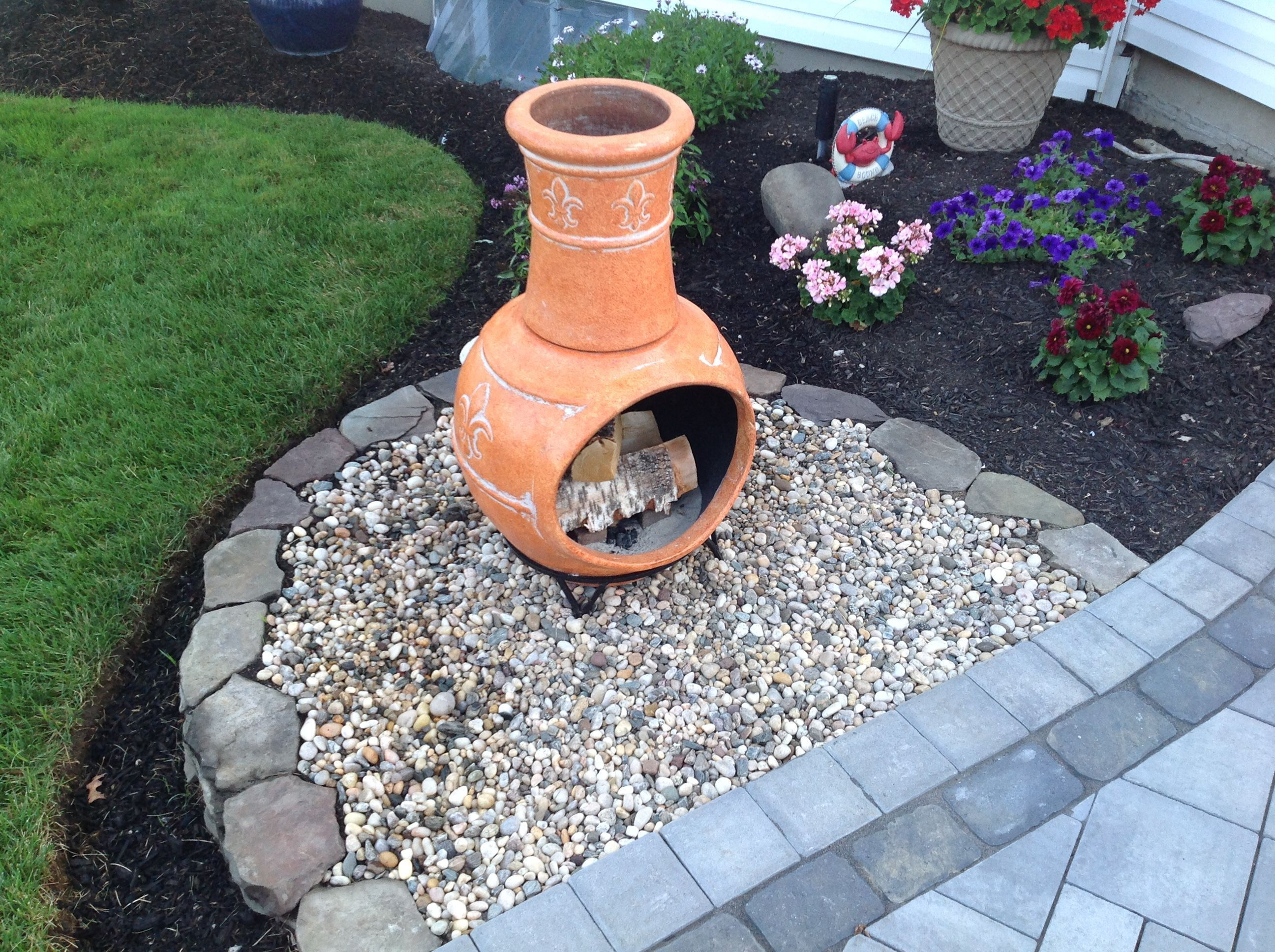15 Lovely Outdoor Fireplace Ideas For Your Home Outdoor Fire Pit Backyard Chiminea Fire Pit Fire Pit