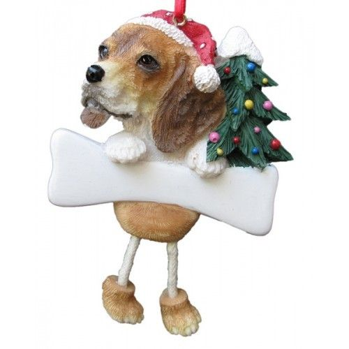 Dangling Leg Beagle Christmas Ornament - Dangling Leg Beagle Christmas Ornament Beagle