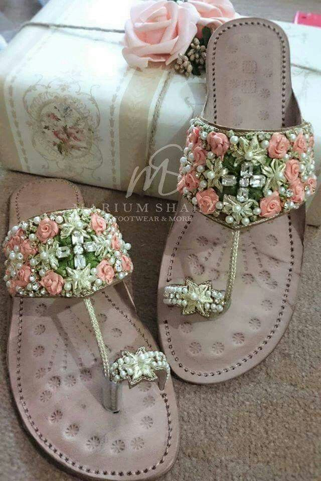 Flat Chappals For Girls Indian Shoes Bridal Sandals