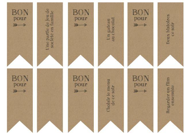 bons imprimer pour calendrier de l 39 avent printable no l joyeux noel pinterest avent. Black Bedroom Furniture Sets. Home Design Ideas