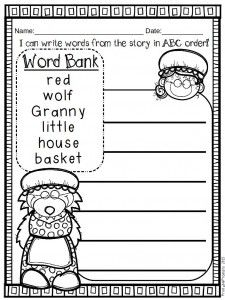 Little Red Riding Hood literacy and math activities! blog ...