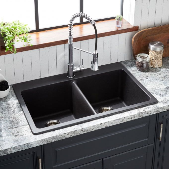 32 Atlas Stainless Steel Undermount Kitchen Sink Gunmetal Black Kitch Drop In Kitchen Sink Composite Kitchen Sinks Stainless Steel Kitchen Sink Undermount
