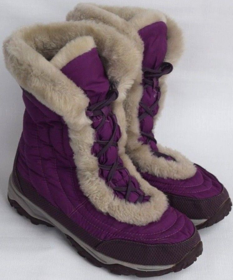 423ab8a74dd942 THE NORTH FACE Nuptse Purple Quilted Lace Up Down Boots 616273 Youth Girls  6  fashion  clothing  shoes  accessories  kidsclothingshoesaccs  girlsshoes  (ebay ...
