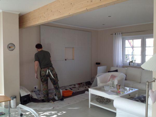 die fermacell platten mit einer grundierung bearbeiten damit der staub gebunden wird und der. Black Bedroom Furniture Sets. Home Design Ideas