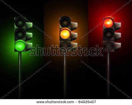 Vector Traffic Lamps 84929407 Shutterstock Traffic Lamp Light Images Stop Light