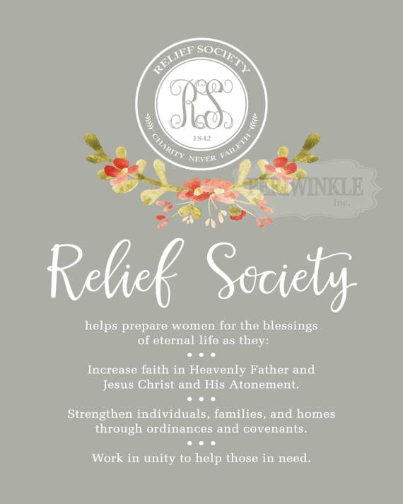 LDS Relief Society Purpose Poster printables-**UPDATED**-Mulitple