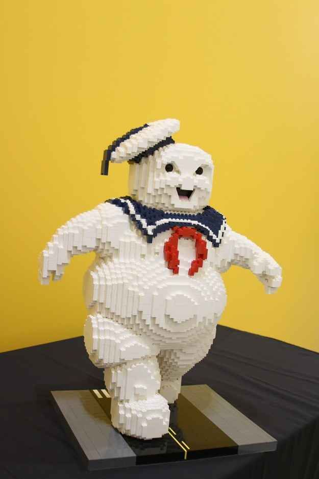"And is made up of 3,654 LEGO bricks! | The Stay Puft Marshmallow Man From ""Ghostbusters"" Has Been Recreated In LEGO And It Is Awesome"