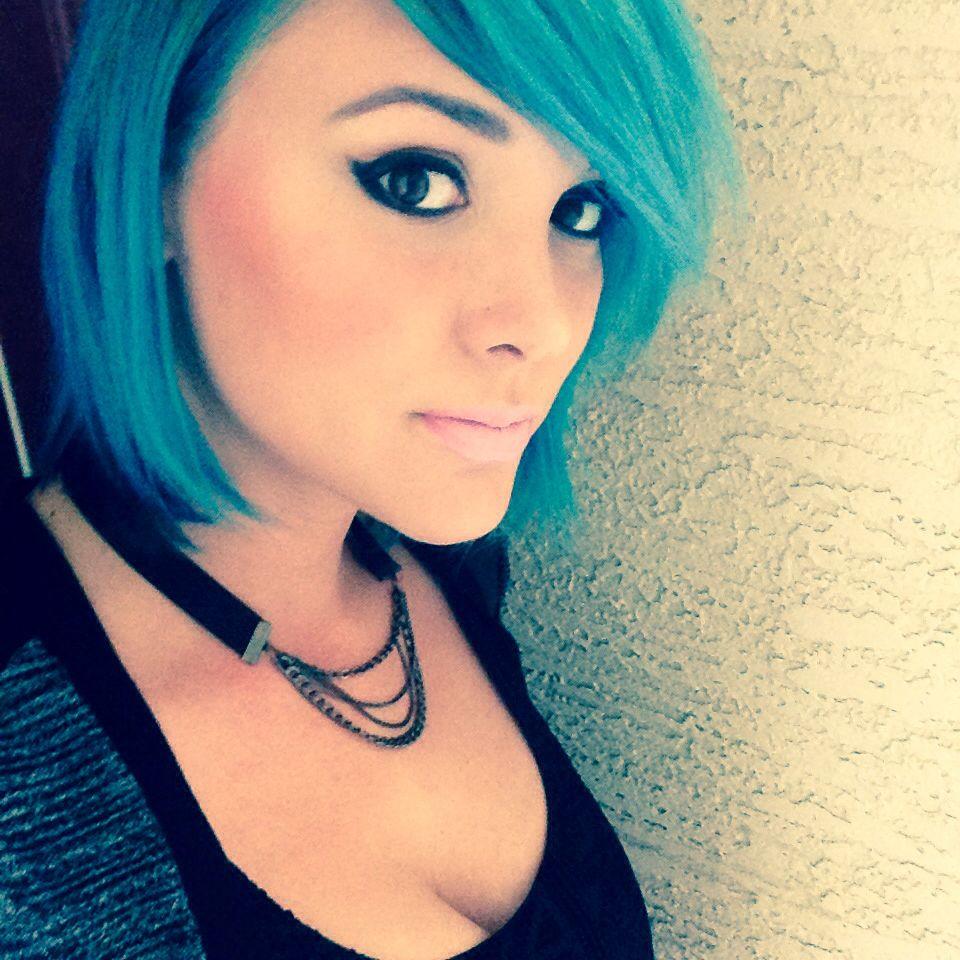 Blue hair now due to a malfunction bluehair aquahair mermaid
