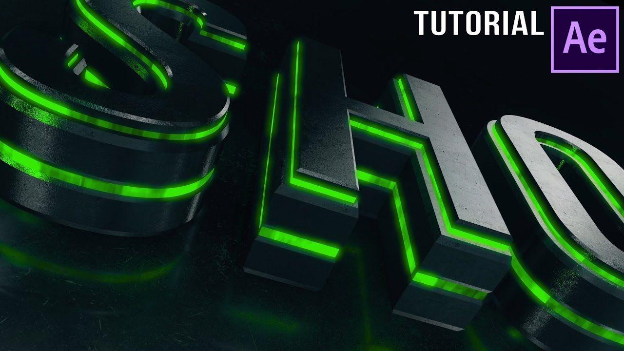 After Effects Tutorial | Dubstep :  Element 3D Logo Reveal