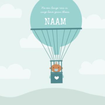 Adoptiekaartje luchtballon jongen