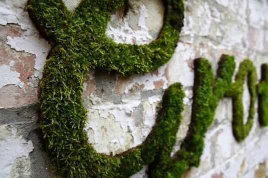 Anna Garforth's Phenomenal Green Graffiti Art is Made Out of Moss