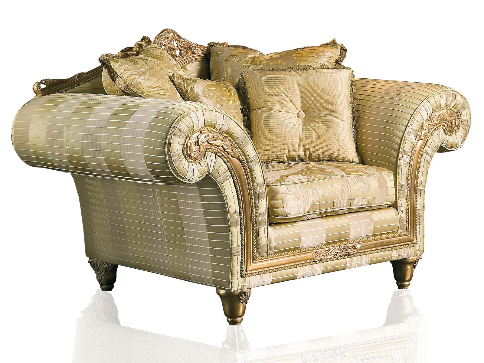 Classic armchair of the imperial collection in ivory for Mobili d epoca