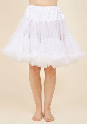 e56485707f48 1950s Style Lingerie   Sleepwear Va Va Voluminous Petticoat in White -  Short  52.99 AT vintagedancer